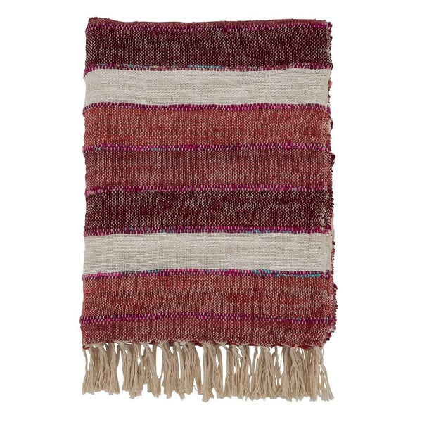 Fennco Styles Luxury Stripe Design Cotton 50 x 67 Inch Throw - Throw Blanket for Bed, Couch, Sofa, Home Décor, Ideas