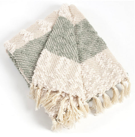 Fennco Styles Nubby Design Striped Throw Blanket