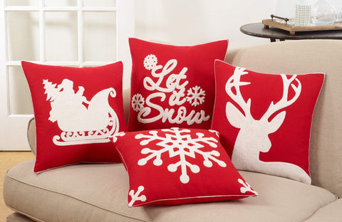Christmas Collection Cotton Decorative Down Filled Throw Pillow
