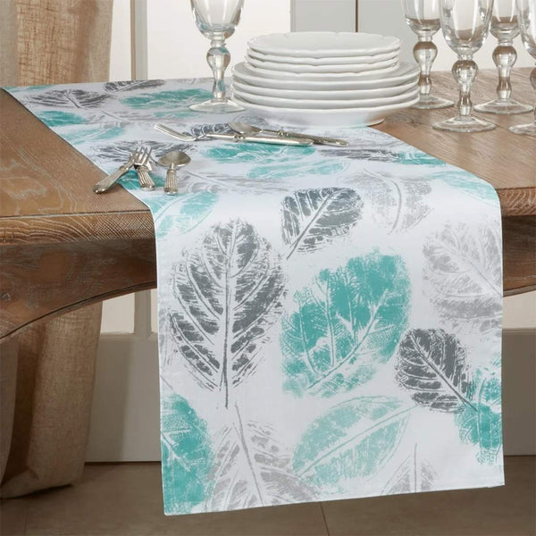 Fennco Styles Aesthetic Leaf Print Table Linens Collection