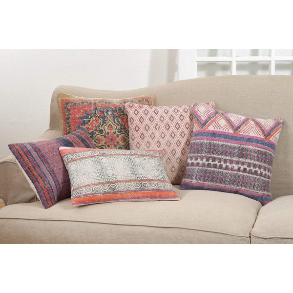 Fennco Styles Bohemian Hex Cotton Down Filled Decorative Throw Pillow