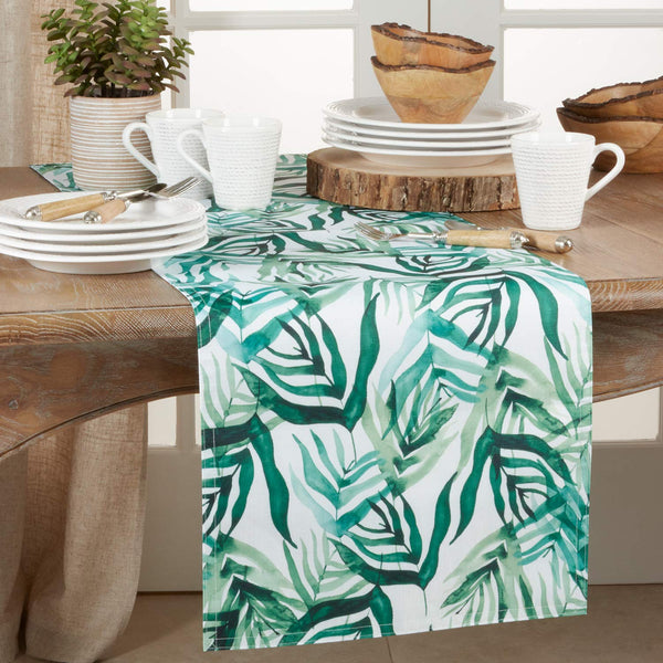 Fennco Styles Tropical Rainforest Print Tablecloth Linen Collections