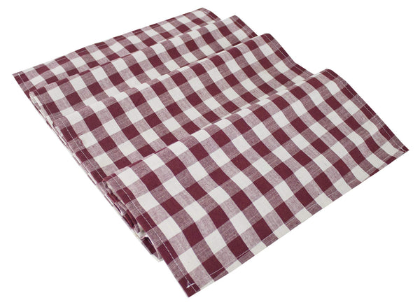 Fennco Styles Classic Gingham Checkered Tablecloth - Check Pattern Table Cover for Everyday Use, Country Theme Party, Banquets and Home Décor