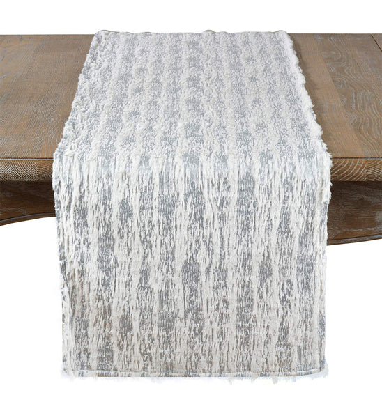 Fennco Styles Brushed Metallic Foil Collection Glamorous Faux Fur Home Décorr