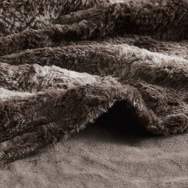 Wilma Collection Country Faux Rabbit Fur Palette 50 x 60 Inch Throw Throw