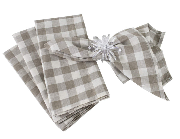 Fennco Styles Classic Gingham Check Pattern Table Cover for Everyday Use, Country Theme Party, Banquets and Home Décor
