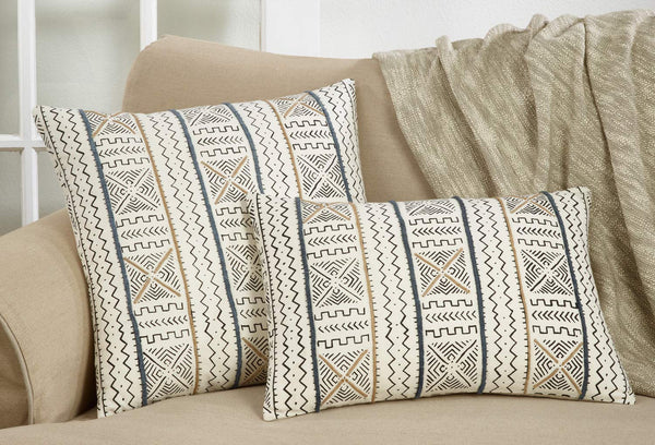 Modern Mud Cloth Design 100% Cotton Decorative Throw Pillow Cover