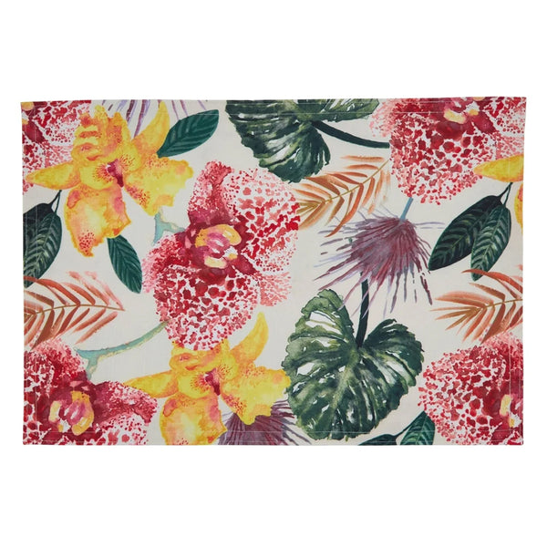 Fennco Styles Tropical Lanai Floral Print Tablecloth