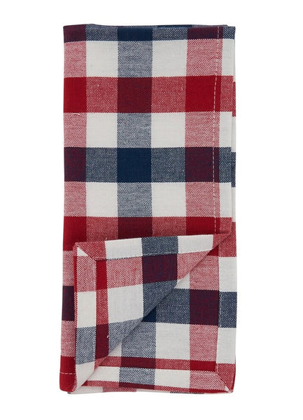 Fennco Styles Casual Gingham Check 100% Cotton Table Runner - Multicolored Checkered Table Cover for Home, Dining Room Décor, Family Gathering and Holiday Season