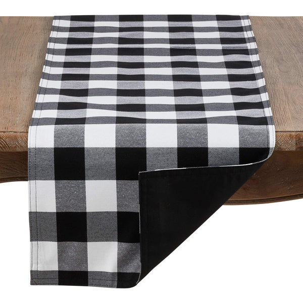 Fennco Styles Buffalo Plaid Collection Classic Checked Cotton Blend Table Linens
