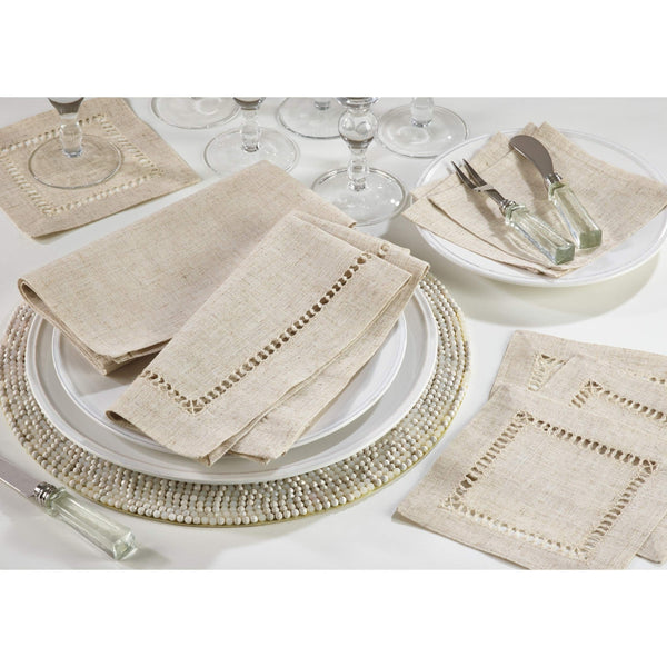 Fennco Styles Toscana Contemporary Linen Blend Table Linens