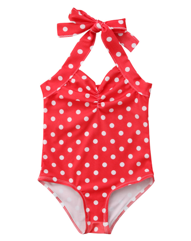 StylesILove Infant Baby Girl Cute Polka Dots One-Piece Swimsuit Beach Bathing Suit Pool Swimwear