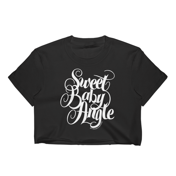 Sweet Baby ANGLE crop top - white print