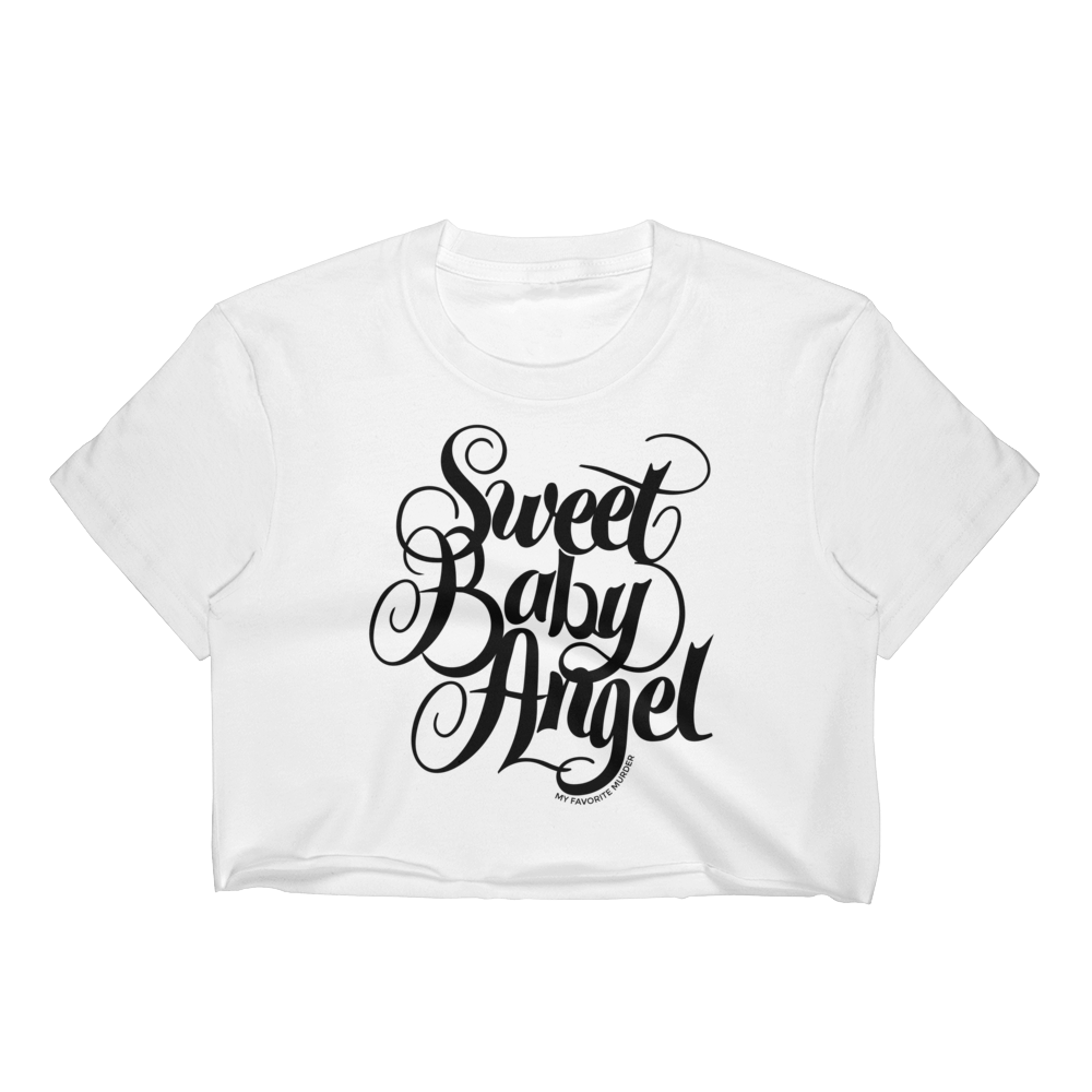 Sweet Baby ANGEL crop top - black print