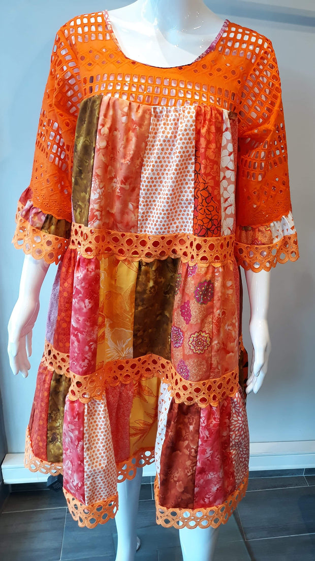 Babydoll Patchwork Orange