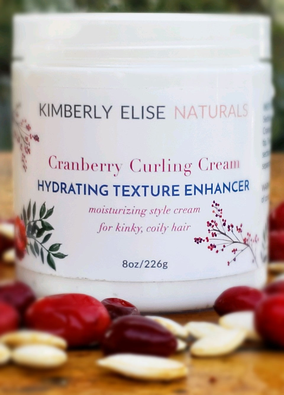 Cranberry Curling Cream with Organic Pumpkin Seed Oil