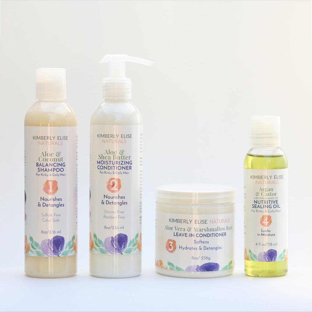 4-Step Moisturizing Black Hair Care System