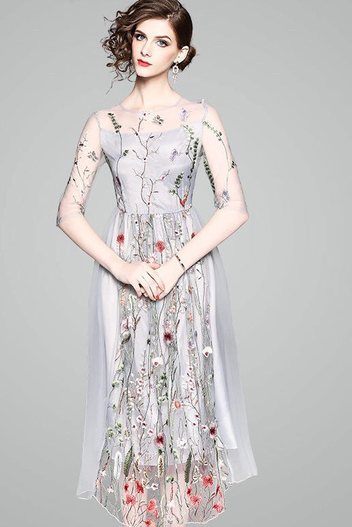 ... Floral Embroidered Maxi Dress ...