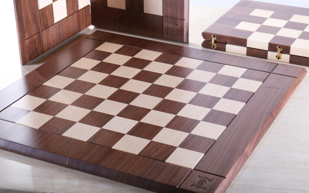Folding Chess Board Ready for Play
