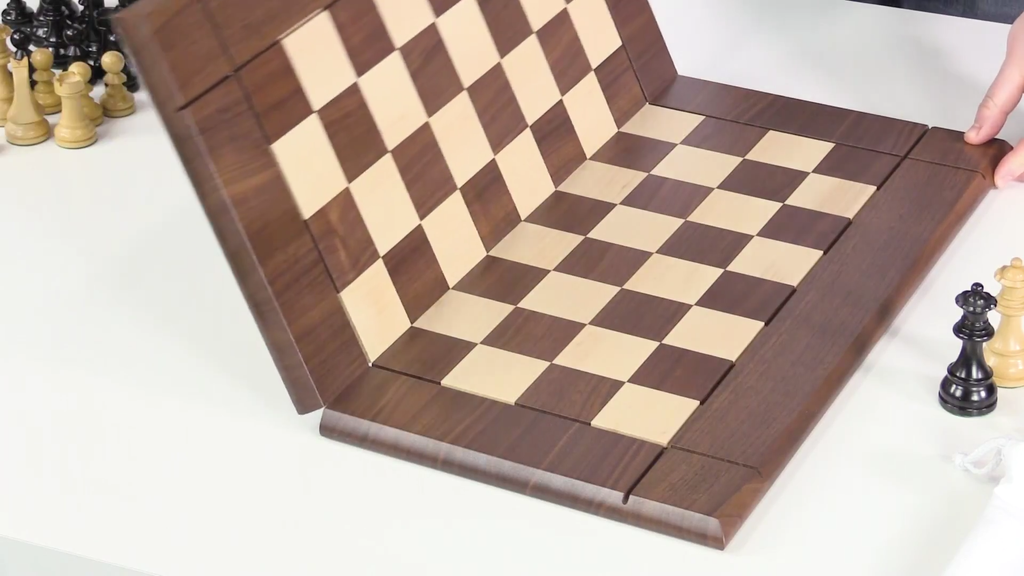 Folding Chessboard on Table