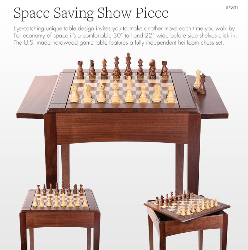 JLP Walnut Table & Walnut Playeru0027s Chess Table USA u2013 Chess House