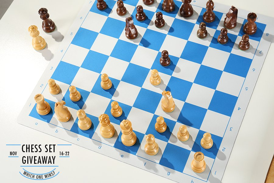 Chess Set Giveaway Timeless on Flex Pad Board