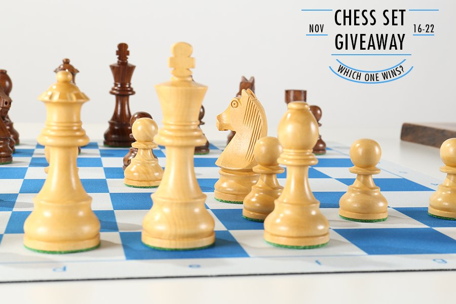 Chess Set Giveaway Timeless on Flex Pad Board Closeup