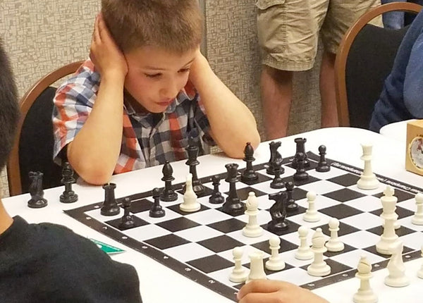 Caleb Playing Chess at 2018 State Tournament