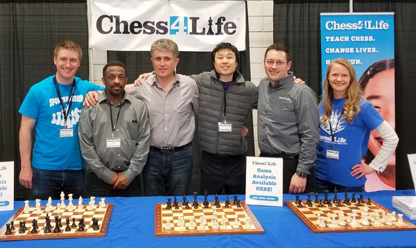 Some of the Chess4Life team at 2018 Washington state chess championships