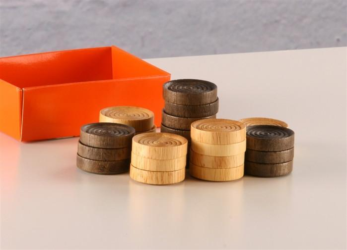 1 1/4 inch Wood Checkers - Accessories