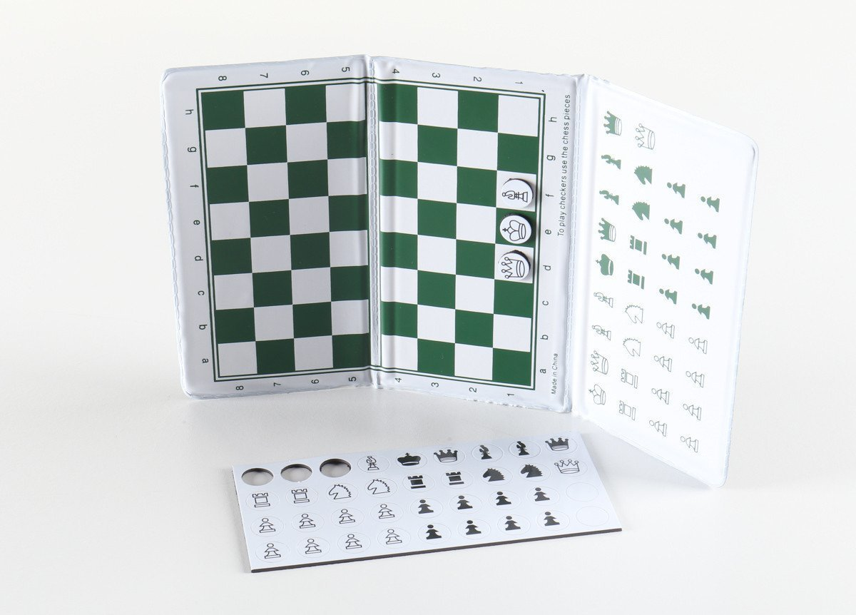 10.5 inch Ultimate Magnetic Travel Chess - Checkbook Style - Chess Sets