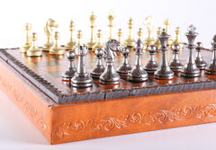"11"" Florentine Chess Set on Leatherette Cabinet Board - Chess Set - Chess-House"