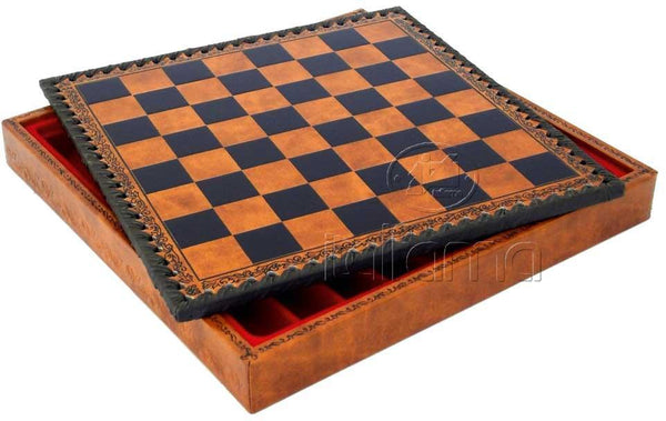 "11"" Leatherette Cabinet Chess Board - Board - Chess-House"