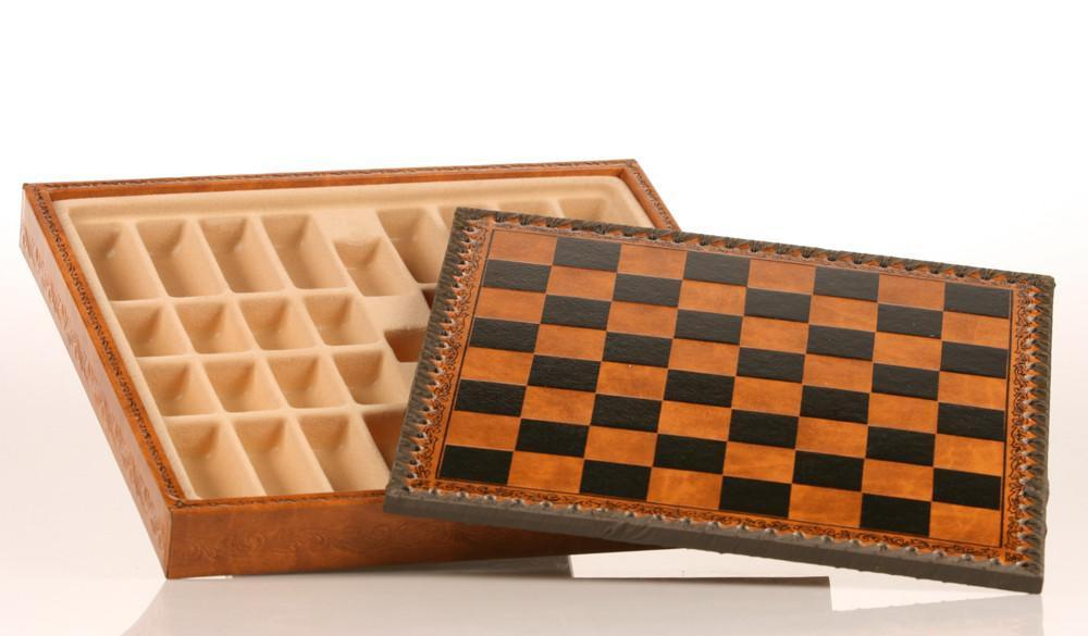 11 inch Leatherette Cabinet Chess Storage Board - Chess Furniture