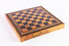 "11"" Map Themed Leatherette Cabinet Chess Board - Board - Chess-House"