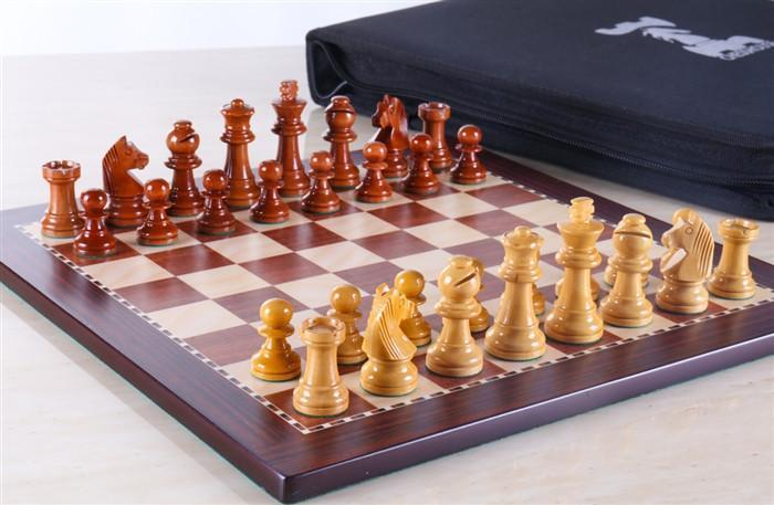 12 inch Magnetic Travel Chess Set in Rosewood - Chess Sets