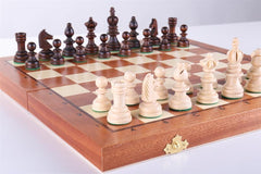 "13 3/4"" Olympic Small Intarsy Wooden Chess Set - Chess Set - Chess-House"