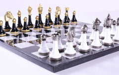"13"" Onyx Chess Set with Florentine Pieces - Chess Set - Chess-House"