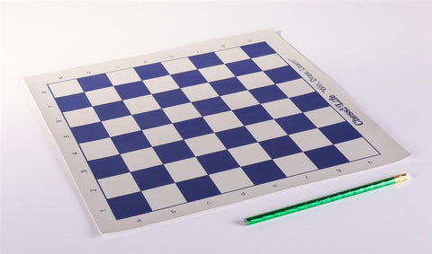 """New Vinyl Chess Board 14/"""" x 14/"""" Green Square 1.5 Inch Easily Rolls Up Storage"""
