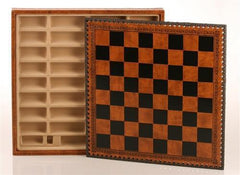 "14"" Leatherette Cabinet Chess Storage Board - Board - Chess-House"