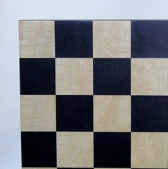 15.5'' Black & Maple Basic Chess Board Board