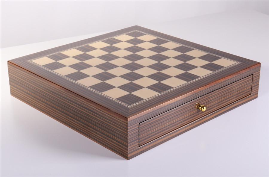 15 inch Maple and Walnut Storage Board - Chess Furniture