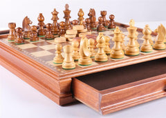 "15"" Staunton Chess & Checker Set - Chess Set - Chess-House"