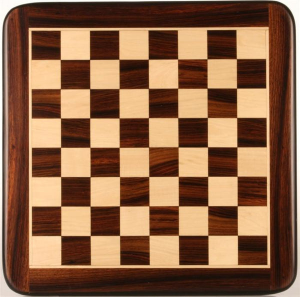 "15"" Wooden Chessboard, Rosewood/White Maple - Board - Chess-House"