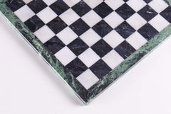 "16"" Black and White Marble Chess Board Board"