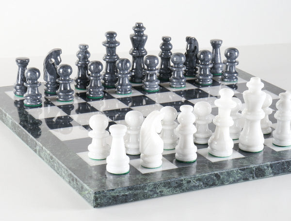 16 Quot Black And White Marble Chess Set Chess House