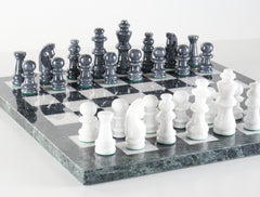 "16"" Black and White Marble Chess Set - Chess Set - Chess-House"