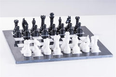 "16"" Black and White Marble Set - Chess Set - Chess-House"