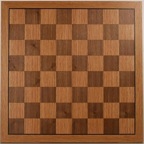 "16"" Flat Oak Veneer Chess Board - Board - Chess-House"
