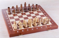 "16"" Folding Tournament Chess Set - German Design in Shishamwood - Chess Set - Chess-House"